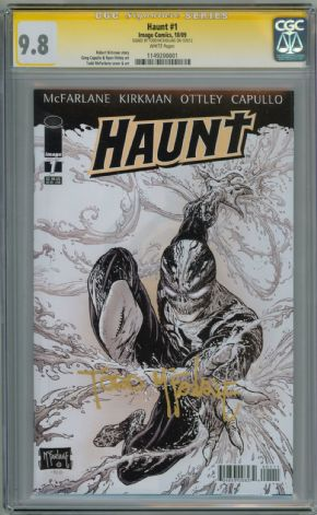 Haunt #1 First Print CGC 9.8 Signature Series Signed Todd McFarlane Image